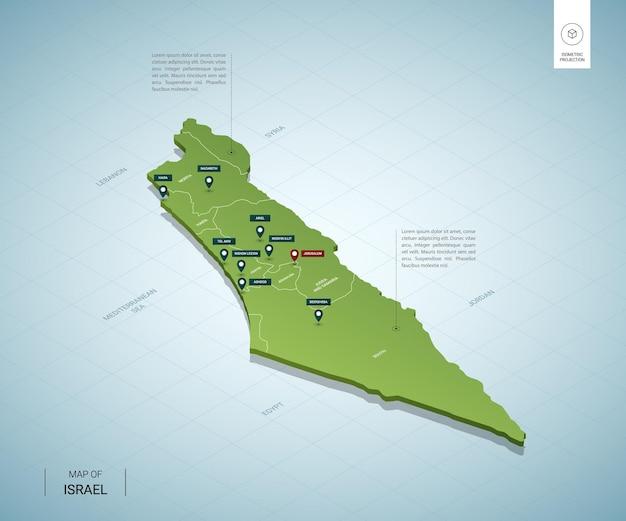 Mapa estilizado de israel.