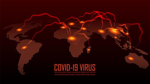 Mapa global do vírus corona