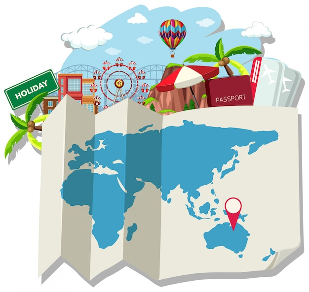Mapa isolado e localização