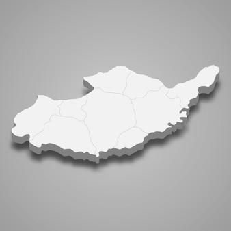 Mapa isométrico 3d de adiyaman é uma província da turquia