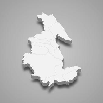 Mapa isométrico de ayacucho é uma região do peru