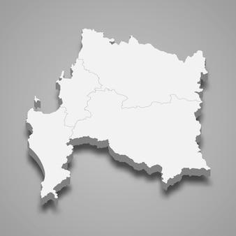 Mapa isométrico de biobio é uma região do chile