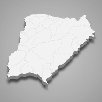 Mapa isométrico de corrientes é uma província da argentina