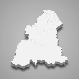 Mapa isométrico de kelantan é um estado da malásia