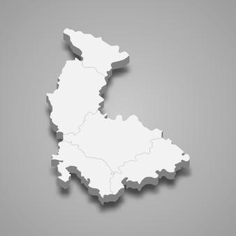 Mapa isométrico de olomouc é uma região da república tcheca