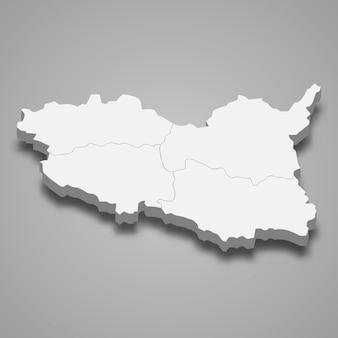 Mapa isométrico de pardubice é uma região da república tcheca