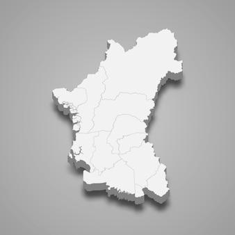 Mapa isométrico de perak é um estado da malásia