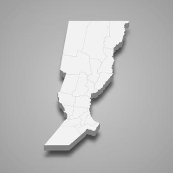 Mapa isométrico de santa feis, uma província da argentina