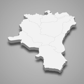 Mapa isométrico de st. gallen é um cantão da suíça