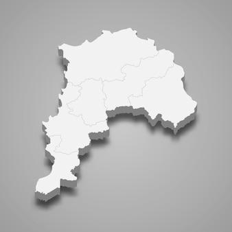 Mapa isométrico de valparaíso é uma região do chile
