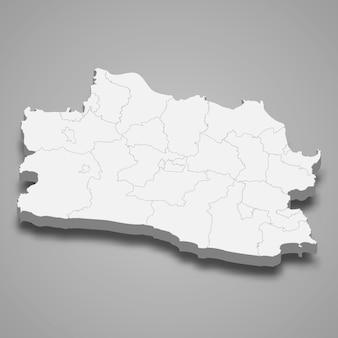 Mapa isométrico de west java é uma província da indonésia