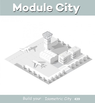 Mapa isométrico do aeroporto da cidade
