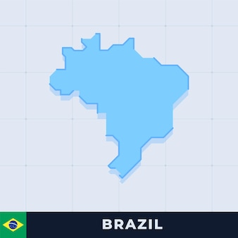 Mapa moderno do brasil
