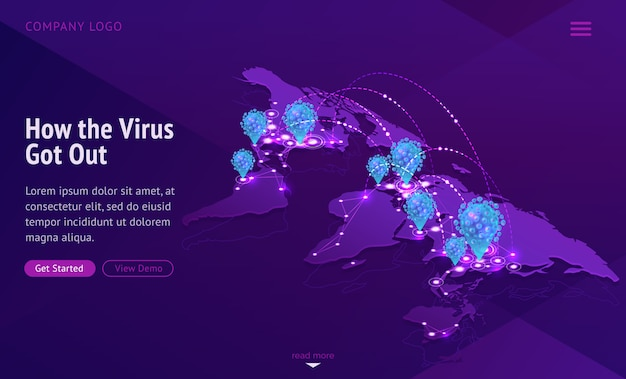 Mapa-múndi mostrando a propagação de doenças contagiosas