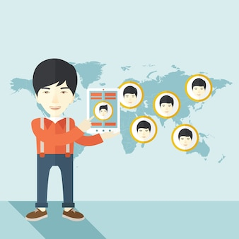 Mapa mundial com o mesmo rosto para todos os destinos.