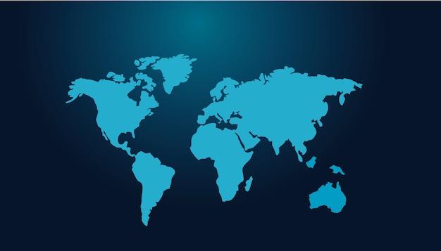 Mapa mundial tech