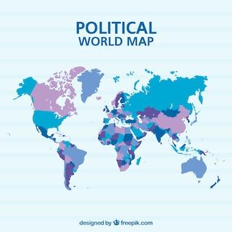 Mapa político do mundo