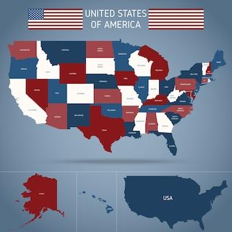 Mapa político dos eua