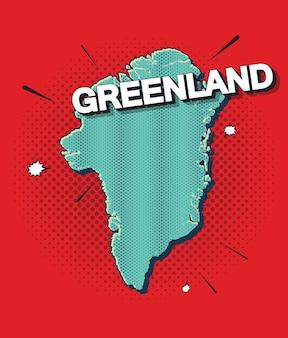 Mapa pop art da groenlândia