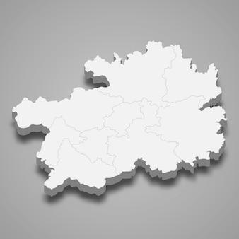 Mapa província da china