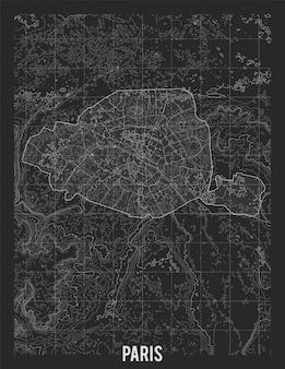 Mapa topográfico de paris