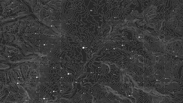 Mapa topográfico escuro