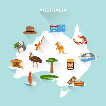 Mapa turístico australiano