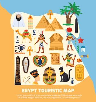 Mapa turístico do egito