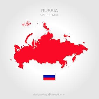Mapa vermelho da rússia