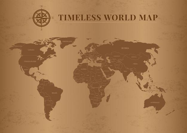 Mapas mundiais clássicos e atemporais