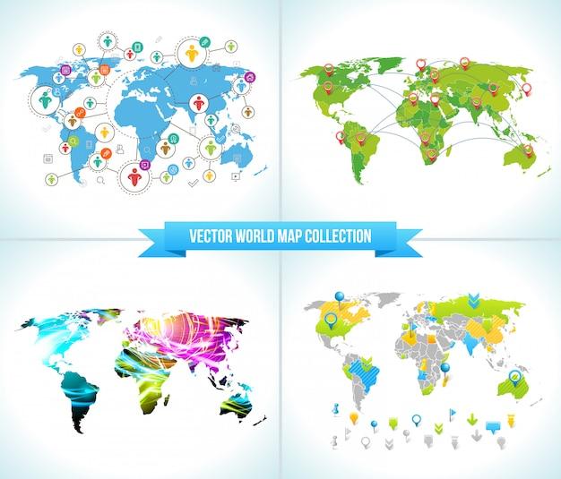 Mapas mundiais da rede social
