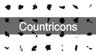 Mapas país conjunto de ícones