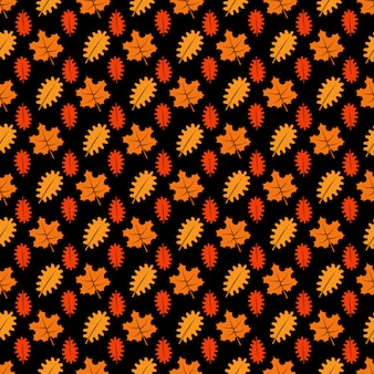 Maple brilhante e carvalhos folhas padrão sem emenda