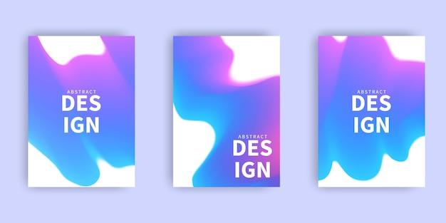 Maquete abstrata pastel colorido fundo gradiente a4 conceito para o seu gráfico colorido, modelo de layout para brochura