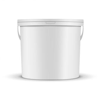 Maquete de balde de tinta branca