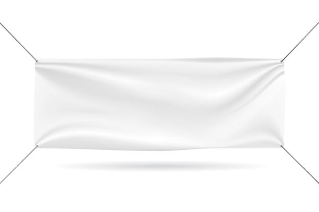 Maquete de banner em fundo branco