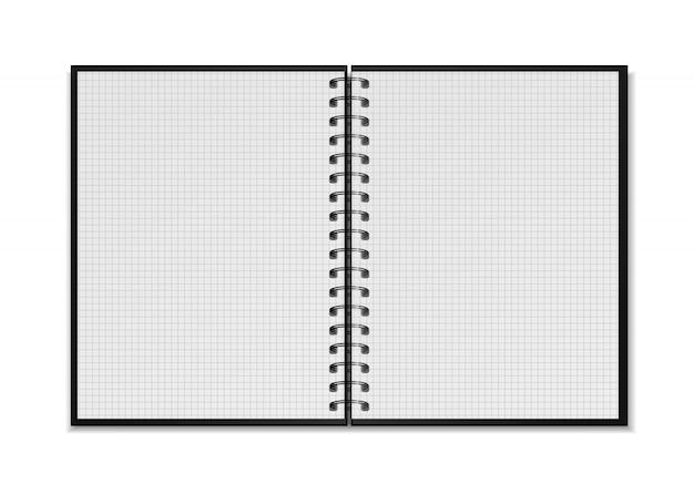Maquete de bloco de notas em espiral