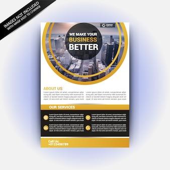 Maquete de brochura de imóveis
