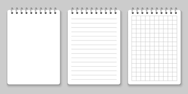 Maquete de caderno espiral realista
