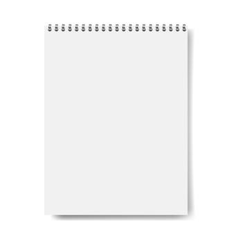 Maquete de caderno isolado
