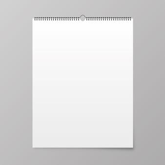 Maquete de calendário. calendário pendurado na parede.