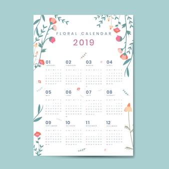 Maquete de calendário floral