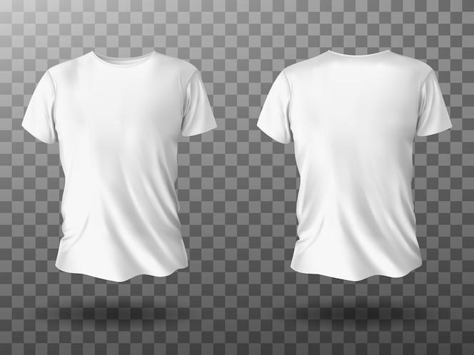Maquete de camiseta branca, camiseta com mangas curtas