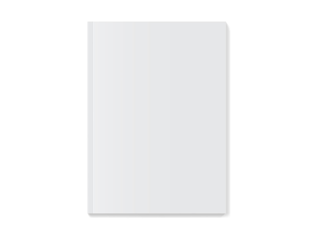 Maquete de capa de revista branca
