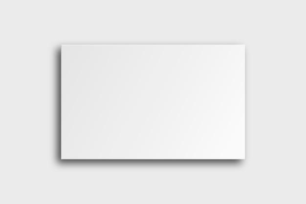 Maquete de cartão de visita em branco em tom branco