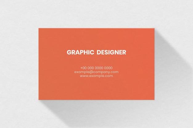 Maquete de cartão de visita simples em tom laranja