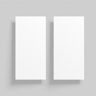 Maquete de cartão vertical com sombras