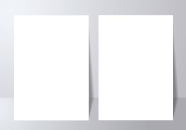 Maquete de cartaz com sombra