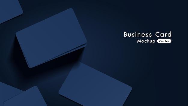 Maquete de cartões de visita elegantes e modernos da marinha Vetor Premium