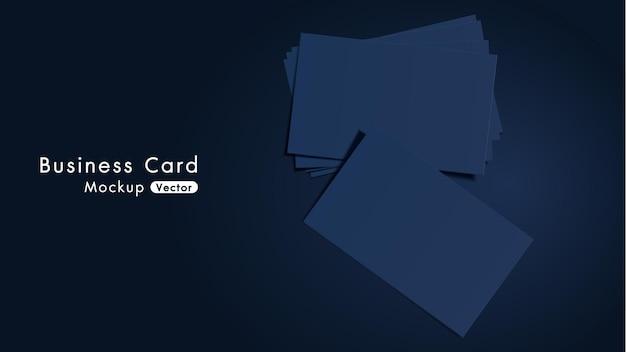 Maquete de cartões de visita elegantes e modernos da marinha